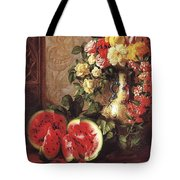 bs- George Henry Hall- Still Life George Henry Hall Tote Bag