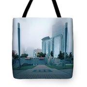 Charlotte North Carolina City Skyline And Downtown Tote Bag