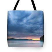 Cloudy Sunrise Seascape Tote Bag