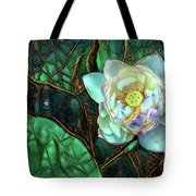 Jeweled Water Lilies Tote Bag