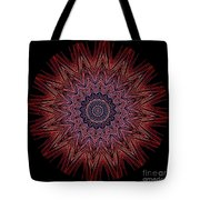 Kaleidoscope Image Created From Light Trails Tote Bag