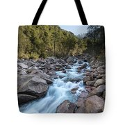 Slow Shutter Photo Of Figarella River At Bonifatu In Corsica Tote Bag