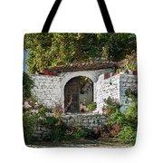 Street In Berat Old Town In Albania Tote Bag