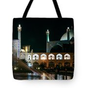 The Shah Mosque Famous Landmark In Isfahan City Iran Tote Bag