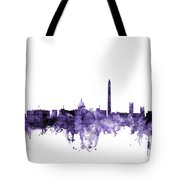 Washington Dc Skyline Tote Bag