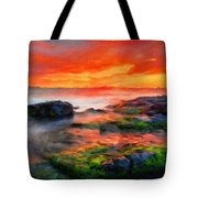 Nature Painted Landscape Tote Bag