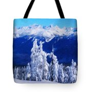 Nature Landscape Paintings Tote Bag
