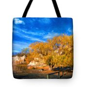 Nature Landscape Paintings Tote Bag