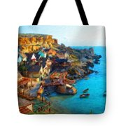 Nature Landscape Oil Tote Bag