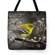 1574 - Pine Warbler Tote Bag