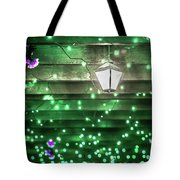 Christmas Light Bokeh At Daniel Stowe Gardens Belmont North Caro Tote Bag