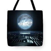 Cryptocurrency And Circuit Board Tote Bag