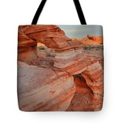 First Light On Valley Of Fire Tote Bag
