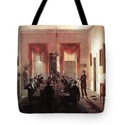 Jlm-1820-henry Sargent-the Dinner Party Henry Sargent Tote Bag