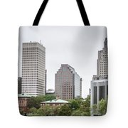 Providence Rhode Island City Skyline In October 2017 Tote Bag