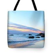 Rocky Daybreak Seascape Tote Bag