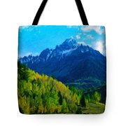 Nature Original Landscape Painting Tote Bag