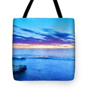 Nature Scenery Oil Paintings On Canvas Tote Bag