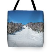 Beautiful Nature And Scenery Around Snowshoe Ski Resort In Cass  Tote Bag