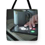 Bedside Table And Cellphone Tote Bag