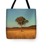Country Agricultural And Farming Field. Tote Bag