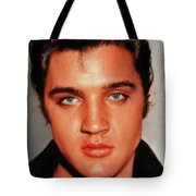 Elvis Presley, Rock And Roll Legend Tote Bag