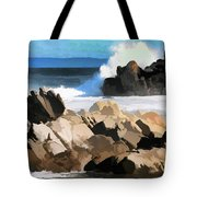 17 Mile Drive Pacific Ocean  Tote Bag