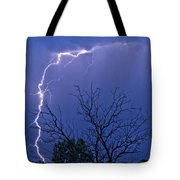 17 Street To Hygiene Lightning Strike. Tote Bag