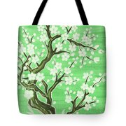 White Tree In Blossom, Painting Tote Bag