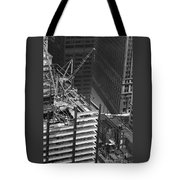 World Trade Center Under Construction 1967  Tote Bag