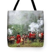 1763 Bushy Run British Counterattack Tote Bag
