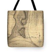 1765 Florida Coast Map Tote Bag