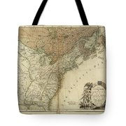 1783 United States Of America Map Tote Bag