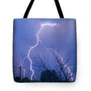 17th Street Lightning Strike Fine Art Photo Tote Bag