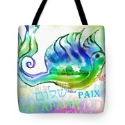 Peace All Over The World Tote Bag