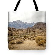 Rocks, Mountains And Sky At Alabama Hills, The Mobius Arch Loop  Tote Bag