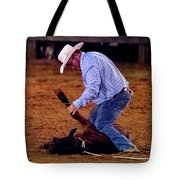 Steer Roping Tote Bag