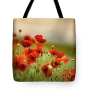 Summer Poppy Meadow Tote Bag