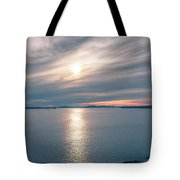 Sunset Over Alaska Fjords On A Cruise Trip Near Ketchikan Tote Bag