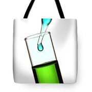 Test Tube In Science Research Lab Tote Bag