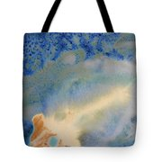 18. V1 Blue, Green, And Brown Glaze Painting Tote Bag