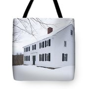 1800 White Colonial Home Tote Bag