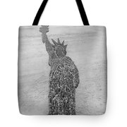 18,000 Officers And Men Form The Statue Of Liberty At Camp Dodge In Iowa. 1917 Tote Bag