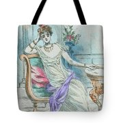 1804 Paris France Fashion Drawing Tote Bag
