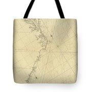 1807 North America Coastline Map Tote Bag