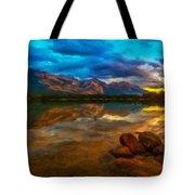 Landscape Nature Drawing Tote Bag