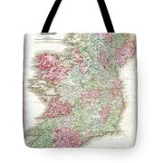1818 Pinkerton Map Of Ireland Tote Bag