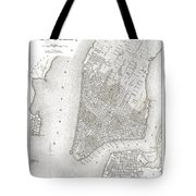 1839 New York City Map Tote Bag