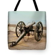 1841 Model Six Pounder Cannon At Fort Mackinac Tote Bag