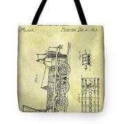 1845 Locomotive Patent Tote Bag